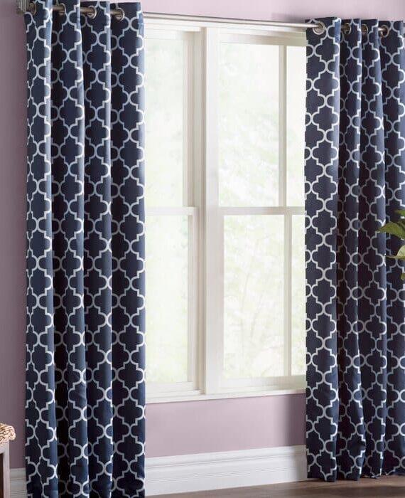 Temescal+Lattice+Geometric+Blackout+Thermal+Grommet+Curtain+Panels